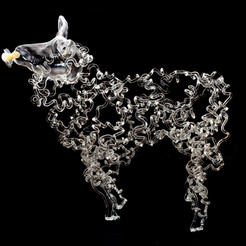 Lamb. Permanent Collection North Lands Creative. Photo: North Lands Creative Glass