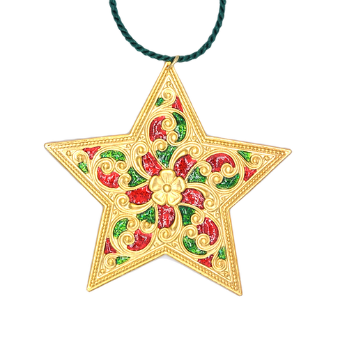 Double-sided Christmas Gold Star