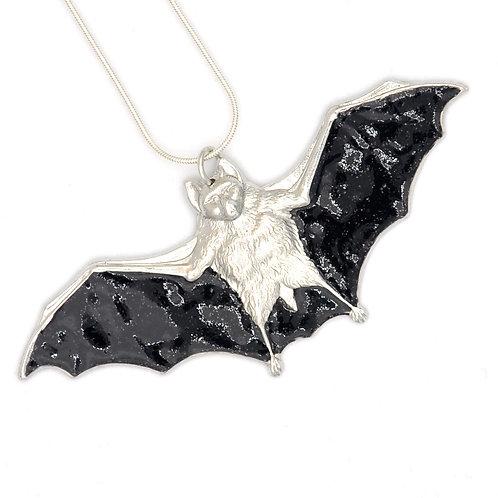 Disco Black Bat Necklace