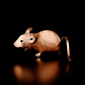 Wee Sleekit Mousie copper mouse ornament
