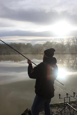 bv shane playing fish shot