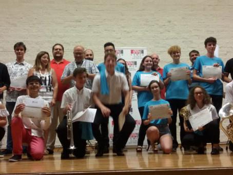 Grandes resultados de Los Salerosos en el Concurso Comarcal de Interpretación Musical