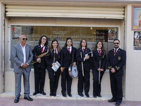 Los Salerosos incorpora cinco nuevos músicos en el primer acto de las fiestas de Santa Cecilia