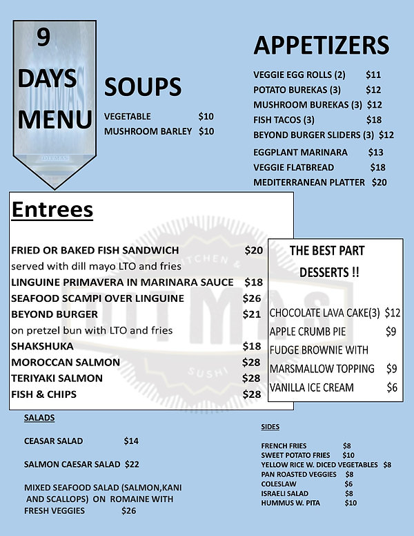 DITMAS  9 days  menu text boxes for edit