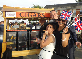 Our Cigar Cart making an appearance at royal ascot