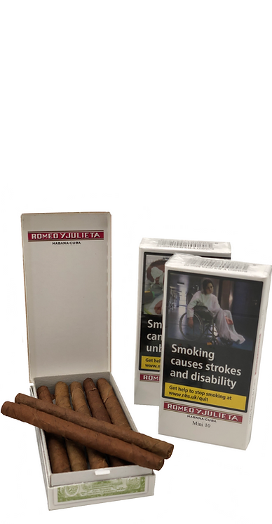 The medium flavour Romeo y Julieta minis are made from the finest blend of Cuban tobacco and are a satisfying quick smoke.