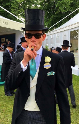 Top Hat and Tail Royal Ascot cigar smoker