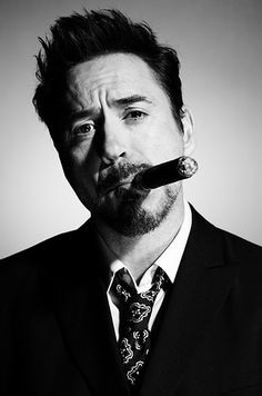 Robert Downey Jr famous cigar smoker