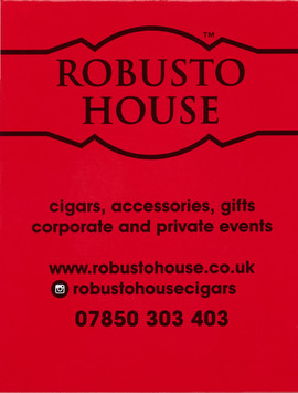 Robusto House Ltd Branded Cigar Match Book www.robustohouse.co.uk +44 7850 303 403