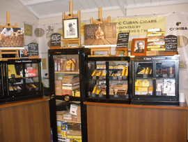 Goodwood Revival exhibition shop selling cigars