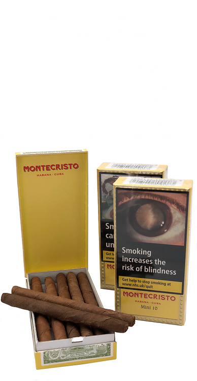 The full flavour Montecristo minis are made from the finest blend of Cuban tobacco and are a satisfying quick smoke. Robusto