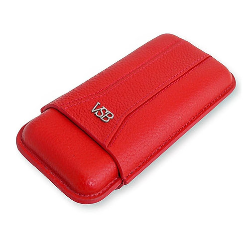 Red Leather Cigar Pouch VSB London