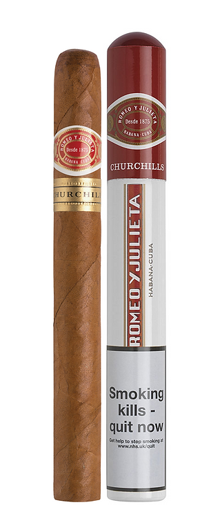 Romeo y Julieta - Churchill - Tubed cigar, The most iconic cigar ever available to purchase from Robuso House store