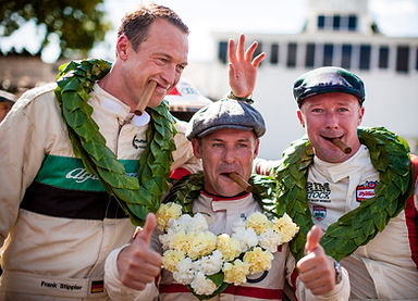 Goodwood revival winners podium smoking celebration cigars from Robusto House cigar store