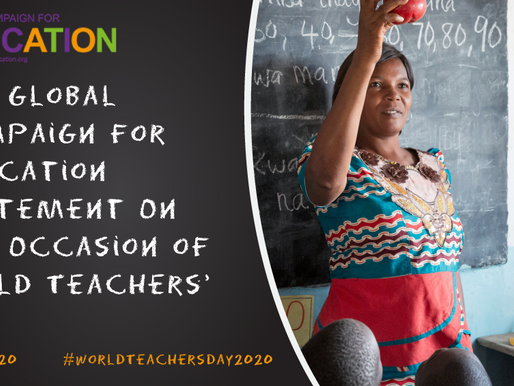 Statement On the Occasion of World Teachers' Day