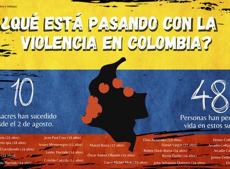 ¿Qué está pasando con las masacres en Colombia?