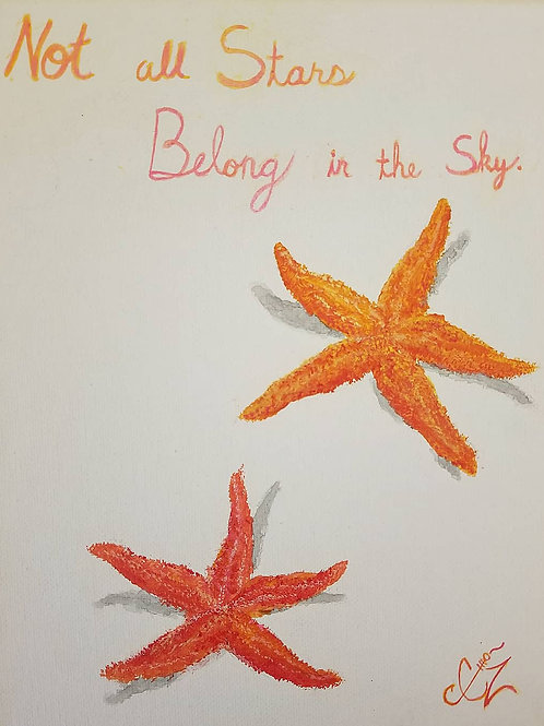 Star Fish Acrylic Painting