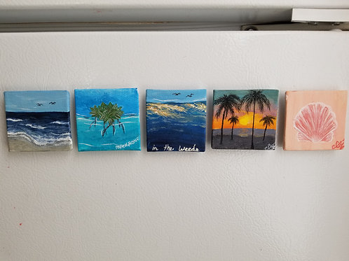 Mini Canvas Refrigerator Magnets