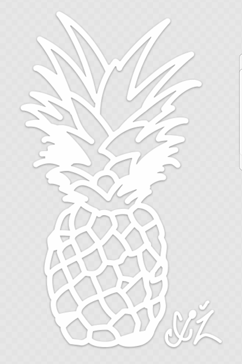 Pineapple Transfer Decal