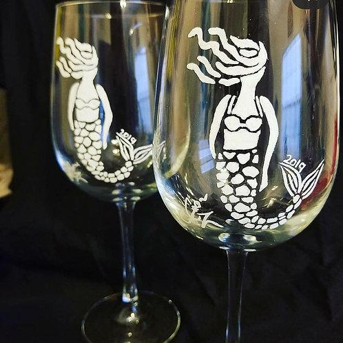 Salty Mermaid Wine Glass Set