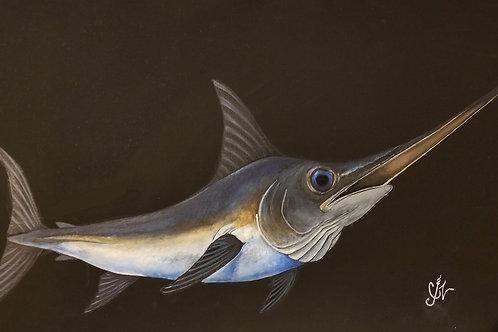 Swordfish Acrylic Painting