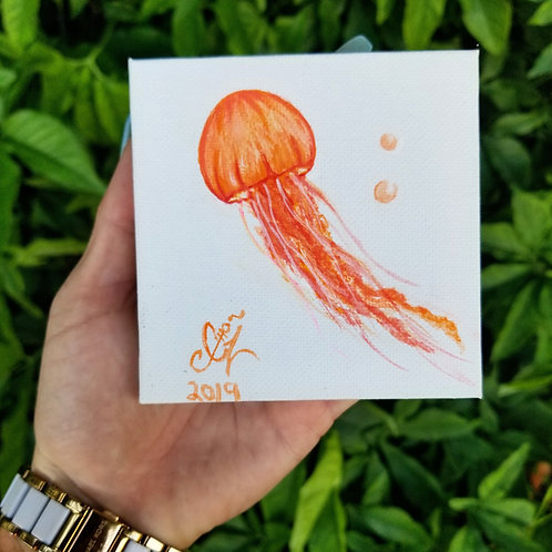 Jellyfish Mini Canvas
