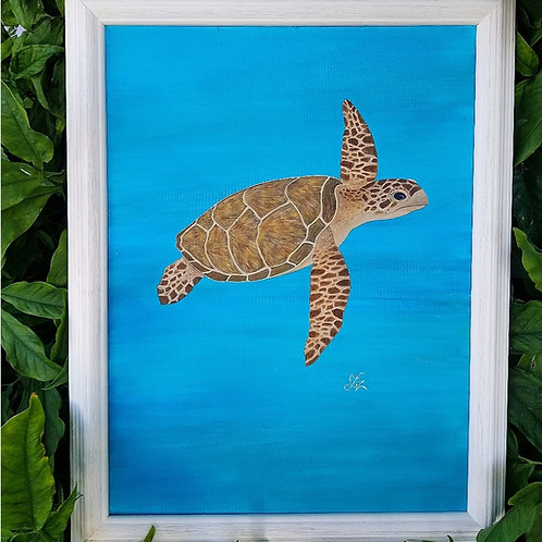 Sea Turtle Acrylic Original Painting