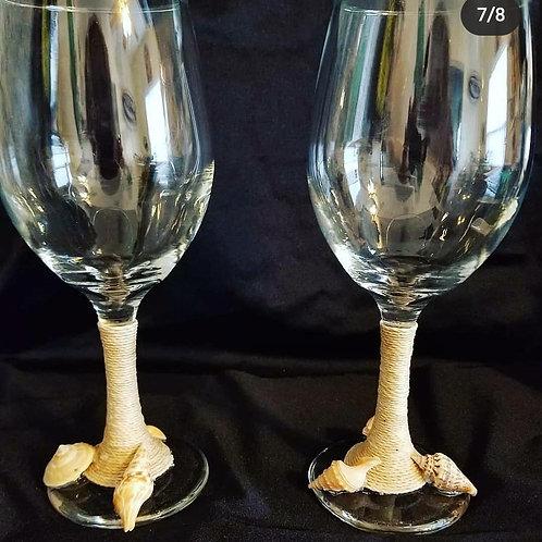 Drunk Mermaid wine glass set