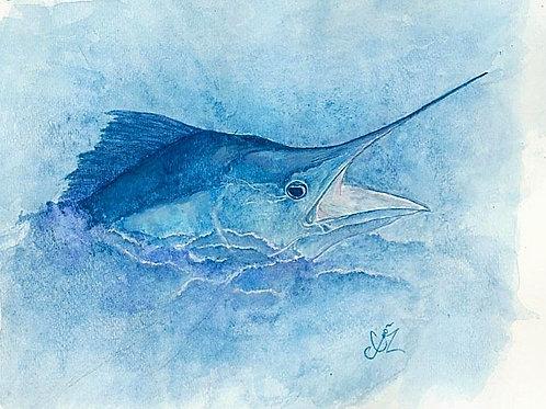 Marlin Watercolor Prints