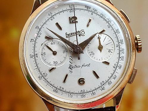 Eberhard & Co Extra-Fort 18KYG Vintage Chronograph