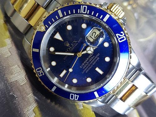Rolex Submariner Ref. 16613 Blue Dial Blue Bezel