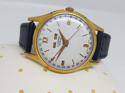 Lusina Geneve Calender Manual Winding Watch