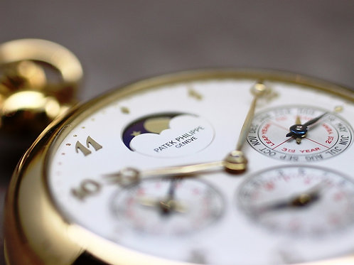 Patek Philippe Perpetual Calendar Minute Repeater Pocket Watch