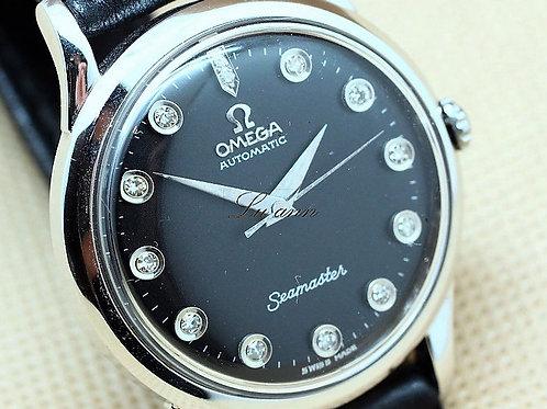 Omega Vintage Seamaster White Gold Diamond Markers Automatic