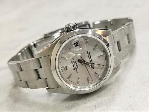 Rolex Ladies Date Silver Dial