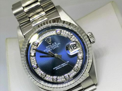 Rolex DayDate 18239 Myraid Blue Dial
