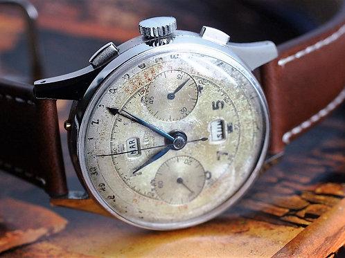Angelus Vintage Chronodate Triple Date Chronograph