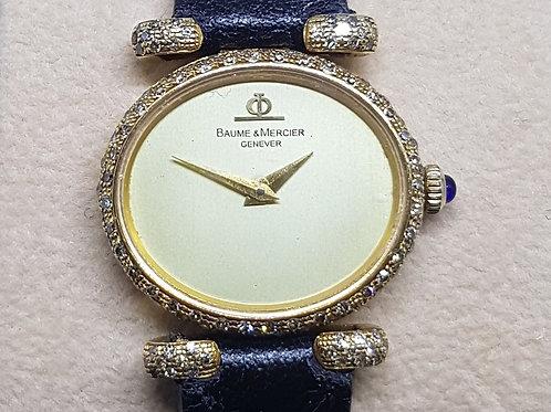 Baume & Mercier 18K Gold Diamond Ladies Watch