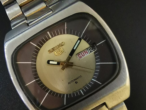 SEIKO Day-Date Automatic BROWN TV Dial