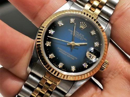 Rolex Datejust 31mm Blue Vignette Diamond Dial