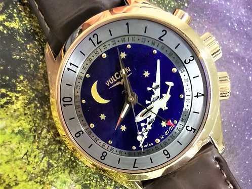 Vulcain Cricket Alarm GMT Cloisonne Dial 18K Rose Gold Limited Edition