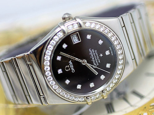 Omega Constellation Diamond Bezel 18KWG Automatic