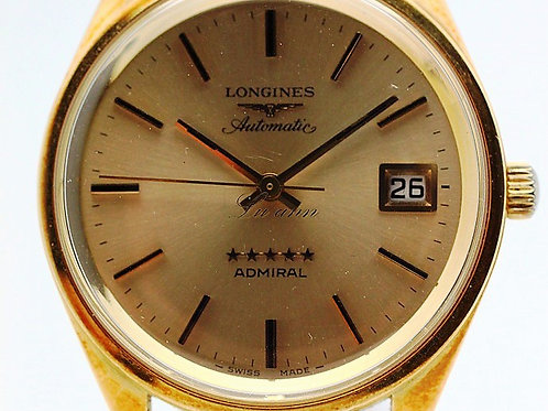 Longines Vintage Admiral 18K Yellow Gold Automatic