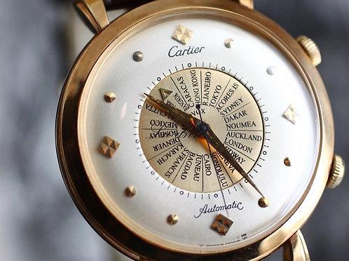 Cartier Memovox Worldtime 18K Rose Gold Automatic