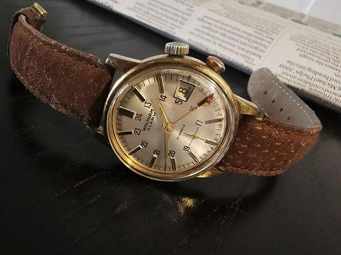 Waltham SWISS Vintage Vulcain Alarm Manual Winding Watch