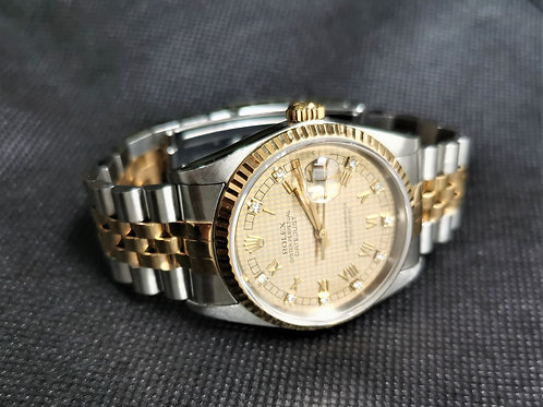 Rolex Oyster Datejust 16233 Houndstooth Dial