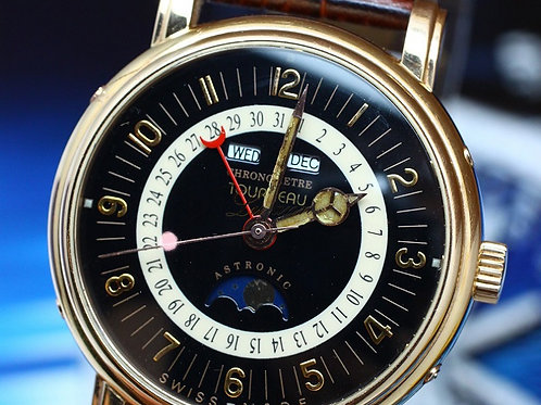 Tourneau Astronic Chronometer Triple Calendar Moon Phase