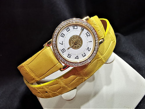 Hermes Sellier Diamond Bezel