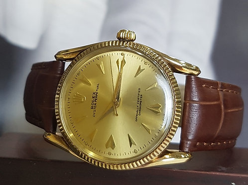 Rare Rolex Vintage Oyster Perpetual in Bombay Lug