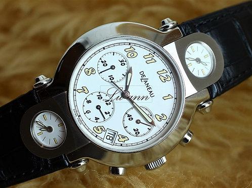 Delaneau 3 time Zone GMT Chronograph Watch